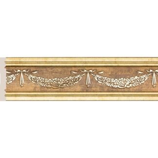 Interior moulding Cosca Wall border 80-2 Garland, antique gold, W1080-2/G327