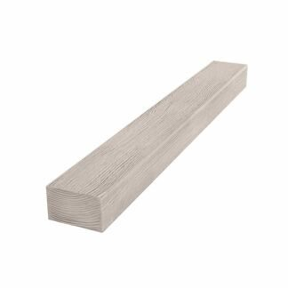 Architectural faux timber Cosca, 120x75x2000, white wood