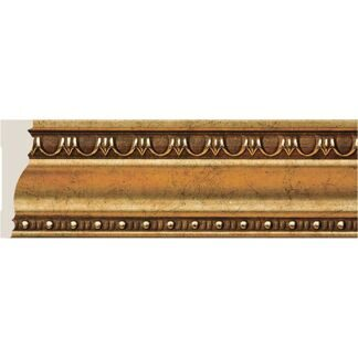 Interior moulding Cosca Ceiling skirting board 60, antique gold, T60/G327