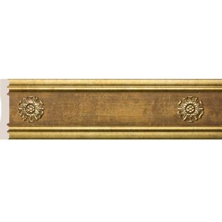 Interior moulding Cosca Wall border 80-5 Rosette, antique gold, W1080-5/G327