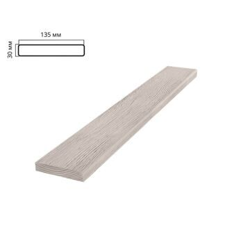 Decorative faux flat timber, 135х30mm 2,0м, white wood
