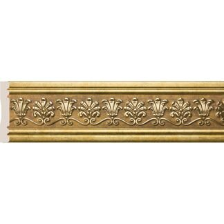 Interior moulding Cosca Wall border 80-4 Palmette, antique gold, W1080-4/G327